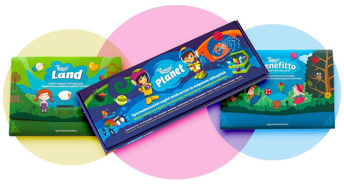 Plukkido Benefitto, Land és Planet gyereknevelést segítő játékok